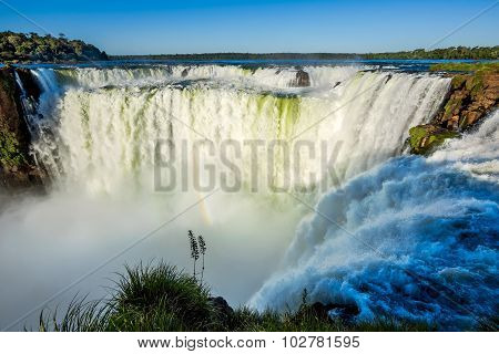 Devil's Throat At Iguazu Falls, on the Border of Brazil and Argentina
