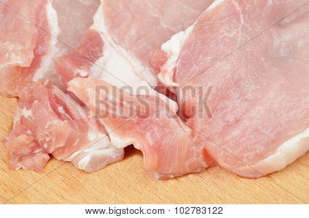 Raw meat steak