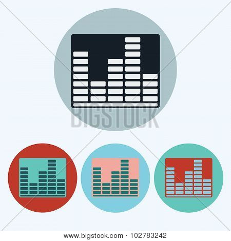 Music Equalizer Icon Set