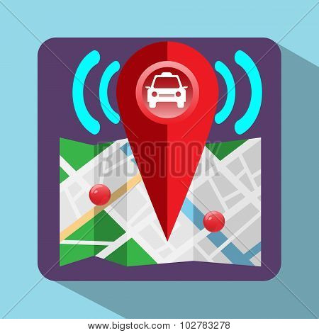 Gps Colorful Navigation Logo