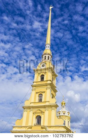 The Peter and Paul cathedral in Peter and Paul fortress.St. Petersburg, Russia