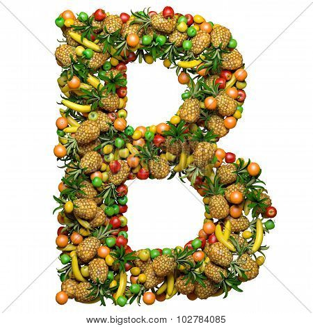 Letter of fruit