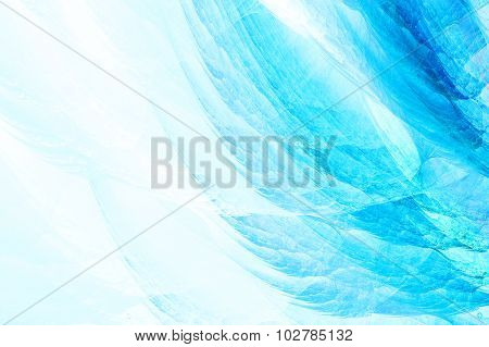 Blue Haze Fractal Background