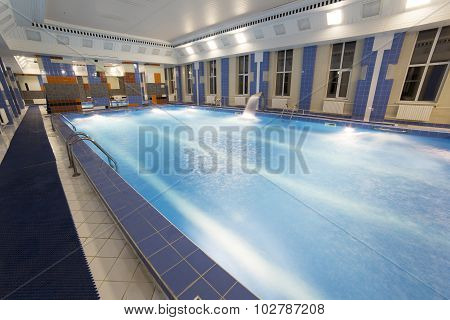 interior of public swimming pool