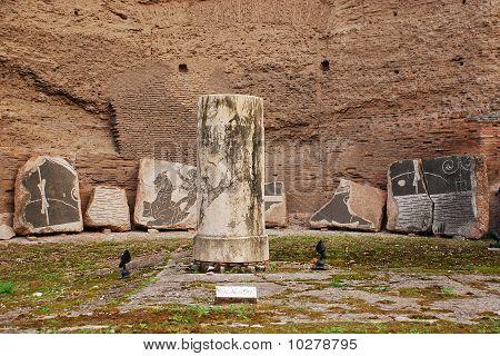 Columna en Terme Di Caracalla, Roma