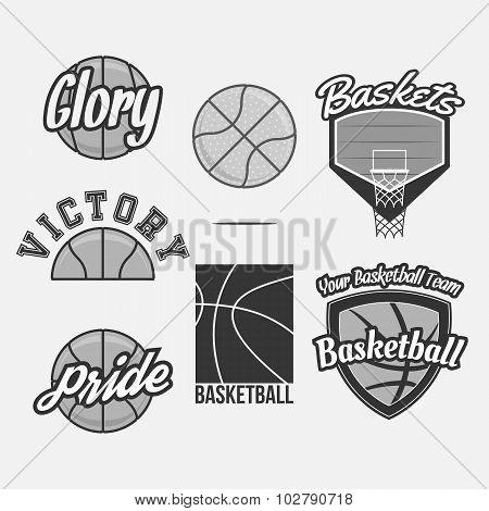 Logo Set for a Basketball Team