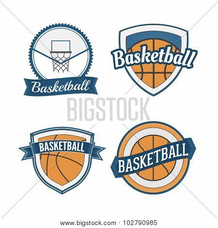 Set of Basketball vintage Design Labels