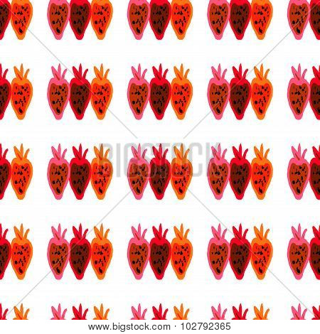 Seamless pattern of colored beet roots painted by hand. Textile pattern of abstract art beet root.