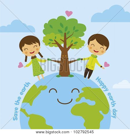 Cartoon Save The Earth, Save World