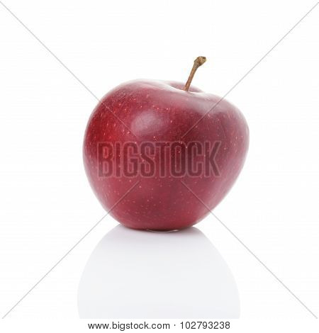dark red apple isolated on white