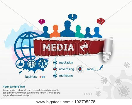 Media Concept And Group Of People.