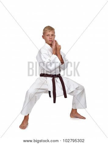 Karate Boy Fighting Position