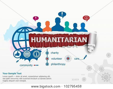 Humanitarian Concept And Group Of People.