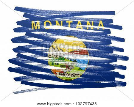 Flag Illustration - Montana