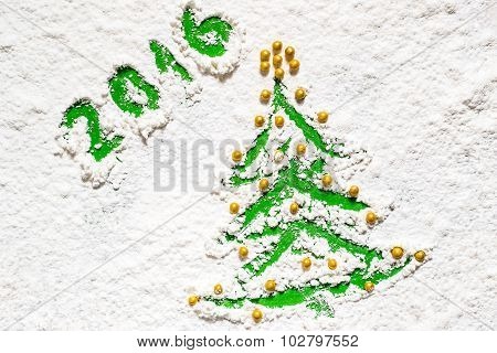 Idea Design Christmas Cards - Christmas Tree In The Snow