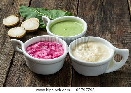Various Pungent Spices Cooked Of Horseradish