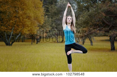 Yoga On The Nature