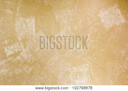 Beige Wall Painted With Textured Paint Roller