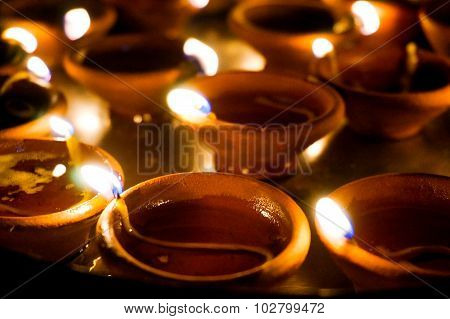 Earthenware Lamps For Diwali