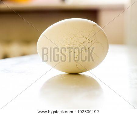 The chicken egg. Crack.