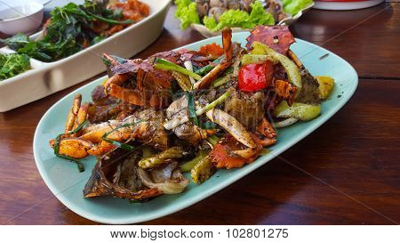 Crabs Cooked With Black Pepper