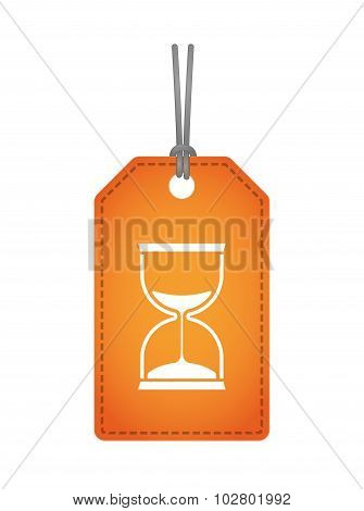 Isolated Label Icon With A Sand Clock