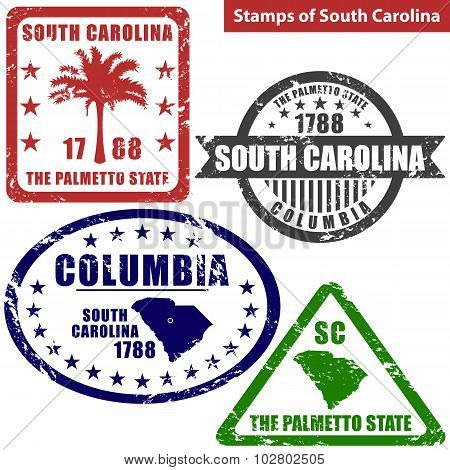 Stamps Of South Carolina, Usa