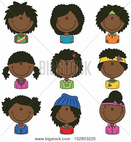 African-american Girls Avatars