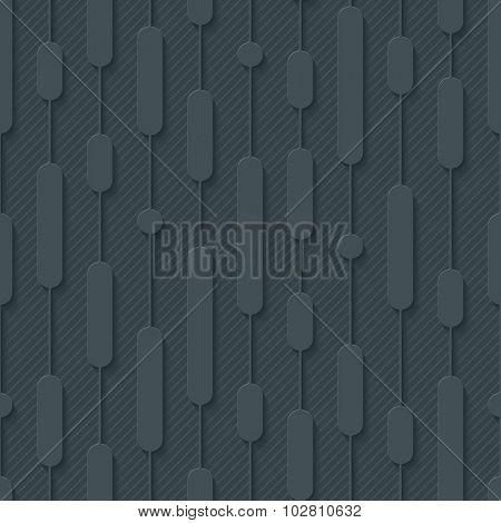 Tech seamless pattern. 3d seamless background. Vector EPS10.