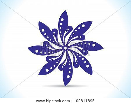 Abstract Artistic Blue Floral