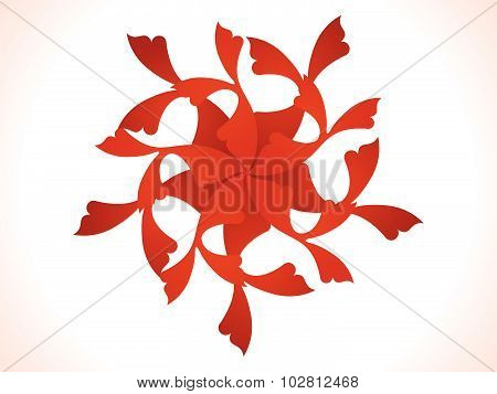Abstract Artistic Red Floral