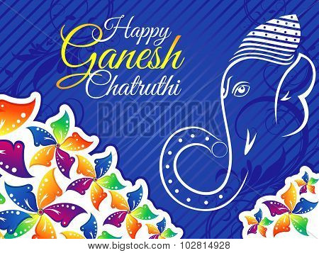 Abstract Artistic Colorful Ganesh Chaturthi Background