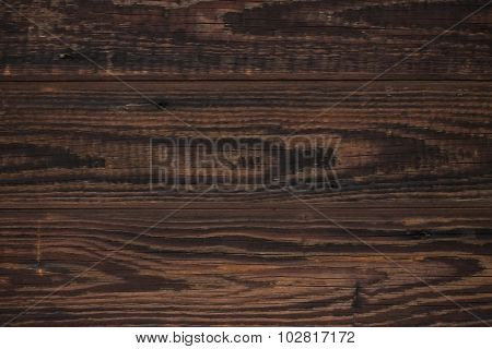Texture Of Old Wood With Dark Brown Color