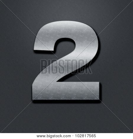 Shabby Metal Numbers - Two