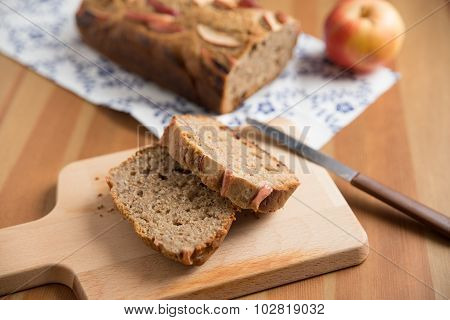 Loaf of apple nut bread