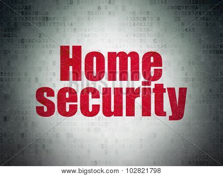 Protection concept: Home Security on Digital Paper background