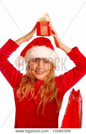 Young Girl At Christmas Time