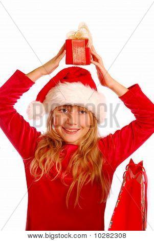 Young Girl At Christmas Time
