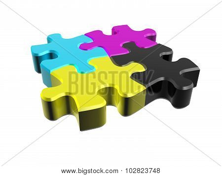 Puzzle Cmyk In Perspective