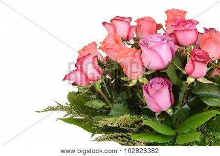 Closeup bouquet of roses