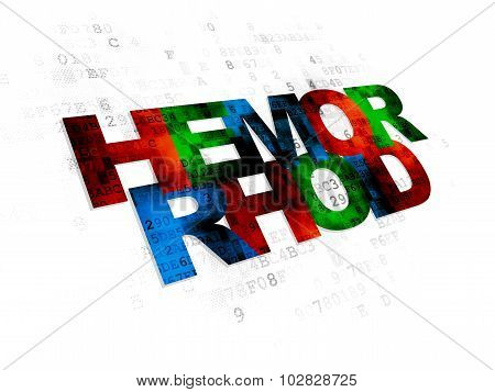 Medicine concept: Hemorrhoid on Digital background