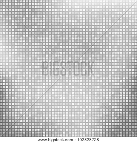 Abstract Silver Background With Tiny Squares
