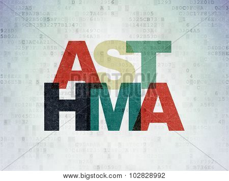 Health concept: Asthma on Digital Paper background