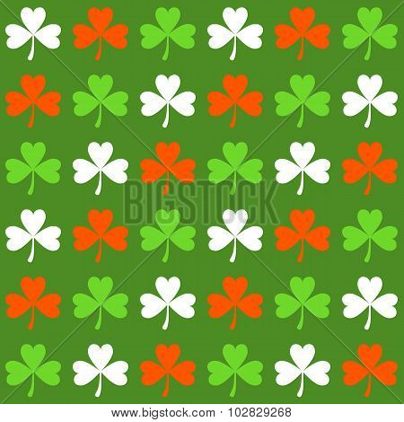Seamless Pattern With Shamrocks