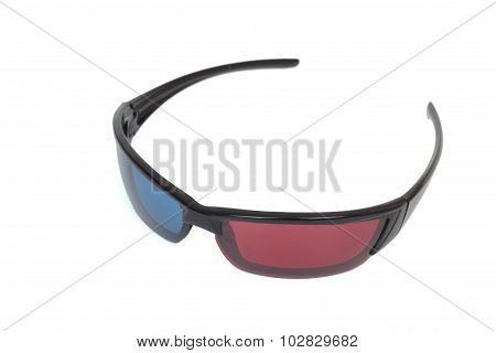 3d cinema glasses. Isolated on white