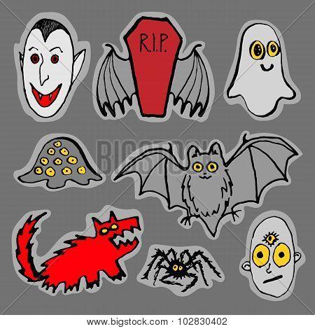 Funny Halloween monsters
