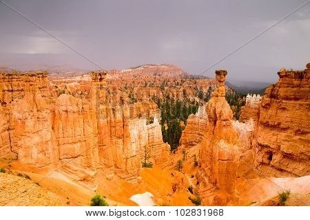 Sandstone Rock Hoodoos Of Bryce Canyon