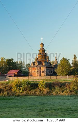 Church of Transfiguration in Old Russian Town  Suzdal, Russia.