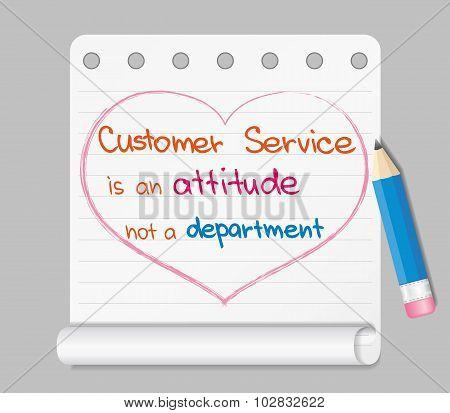 Customer Service is an attitude