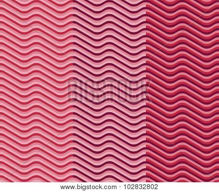 Set Seamless Wavy Pattern